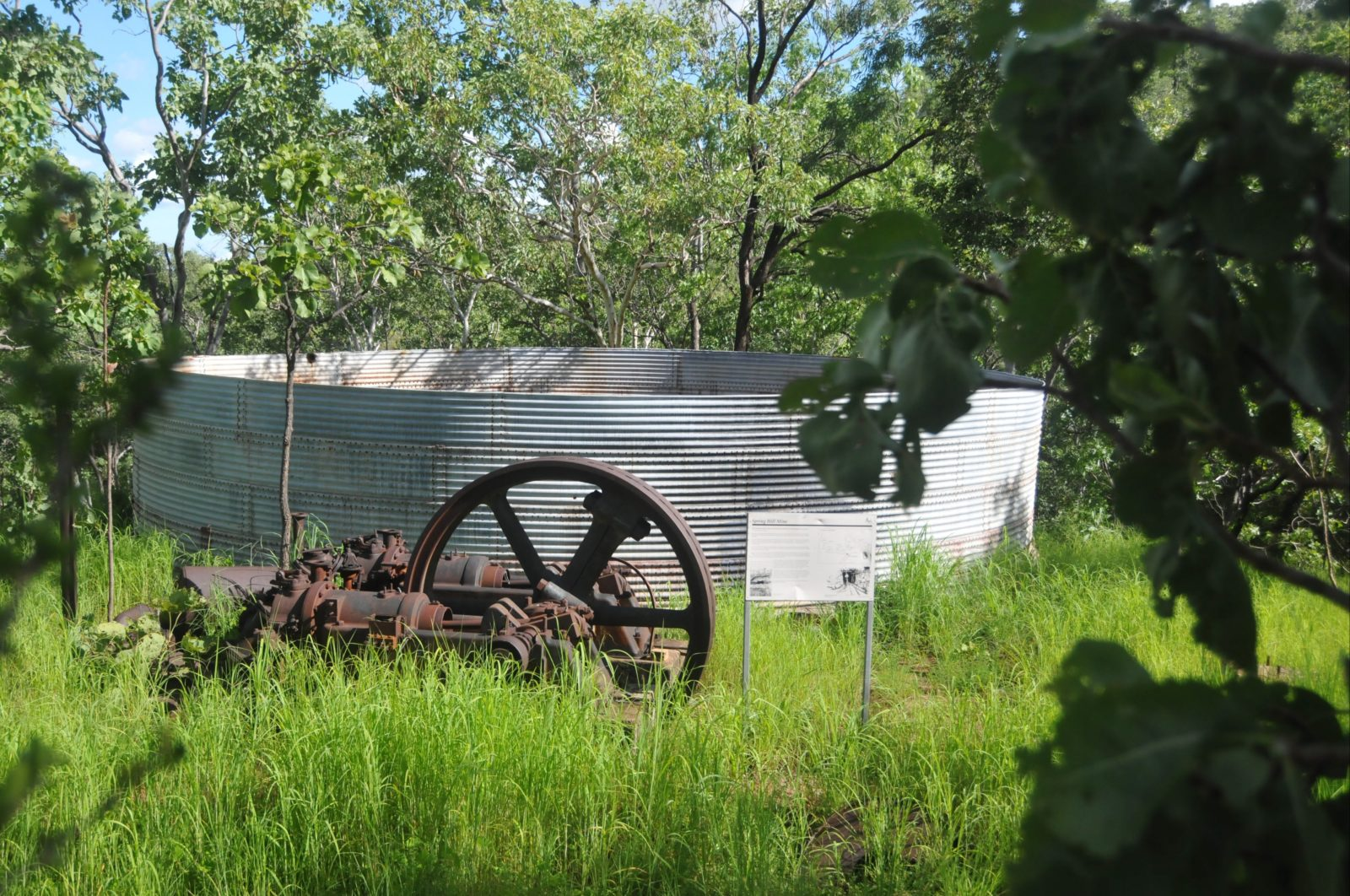 Water tank, boiler and compressor at Spring Hill.