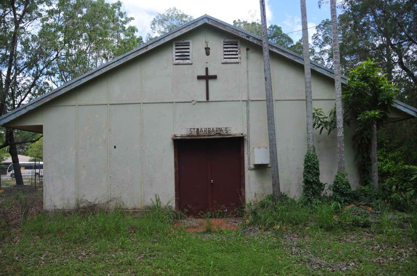 Church entrance.