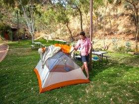 Campgrounds at Standley Chasm ANGKERLE