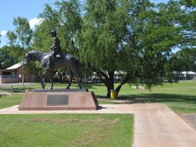 Memorial at the corner of the Stuart Highway and Chambers Drive at the southern end of Katherine.