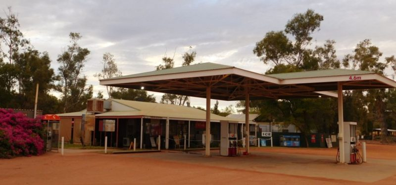 Stuarts well Roadhouse, outback, south of Alice Springs, Central Australia, Accommodation, camping