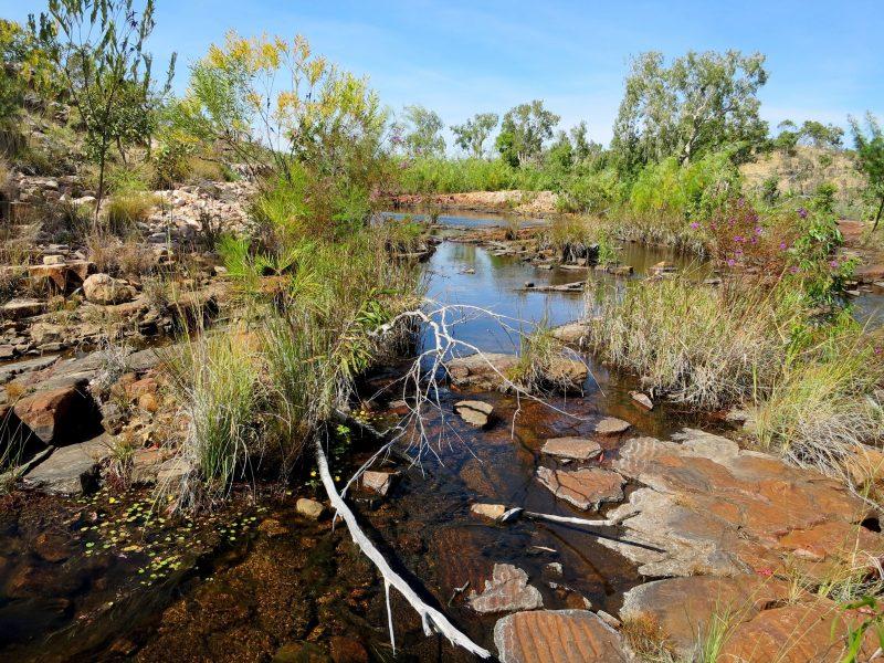 Rocky landscape surrounding Sweetwater