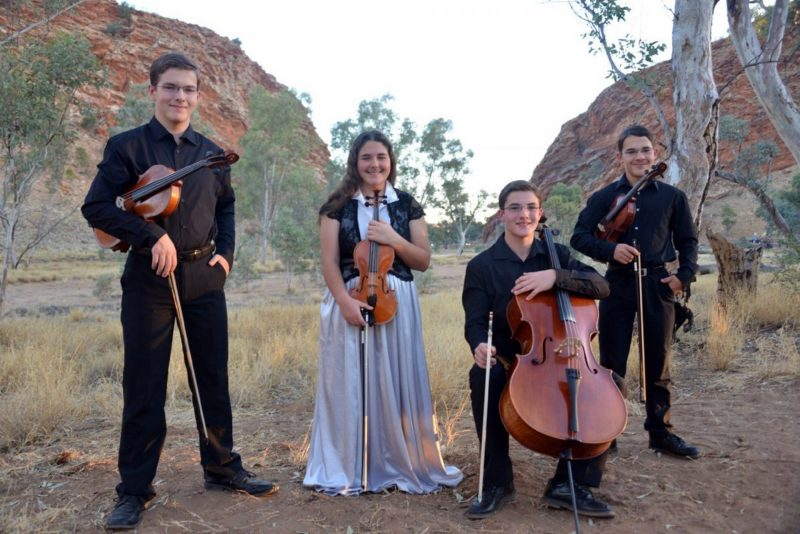 "A beautiful 'concert in the round' presented by 'The Abernathy Quartet""."