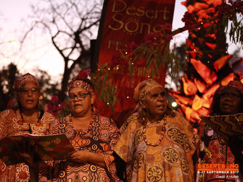 The Central Australian Aboriginal Women's Choir, Desert Song Festival, Alice Springs