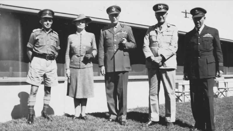 WWII - Col Noel Loutit, Hilda Abbot, Lord Gowrie and Aubrey Abbott