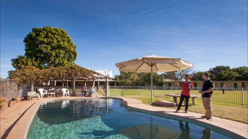 Take a refreshing dip in the pool