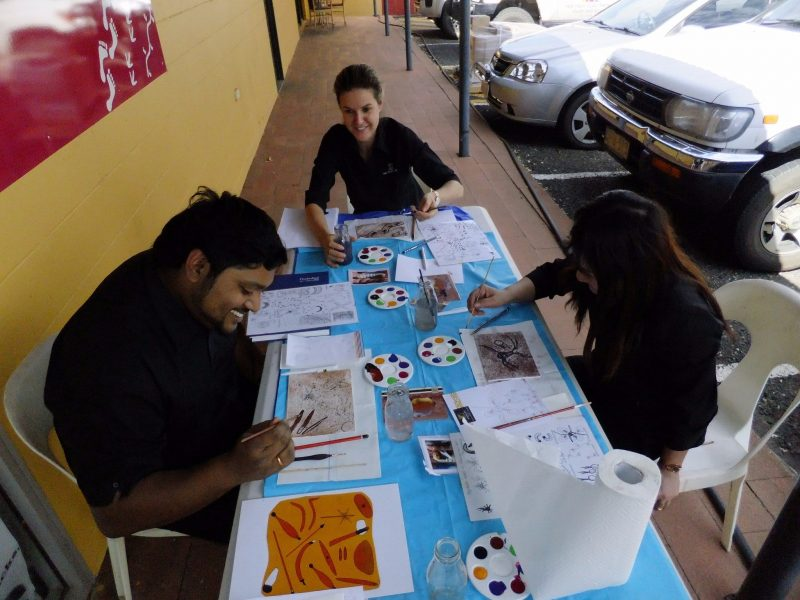 Sand painting workshop