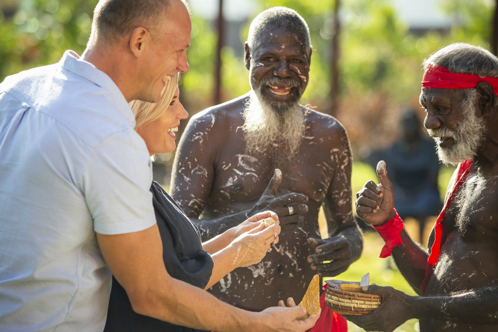 Visitors are welcomed to Bathurst Island with a ceremony