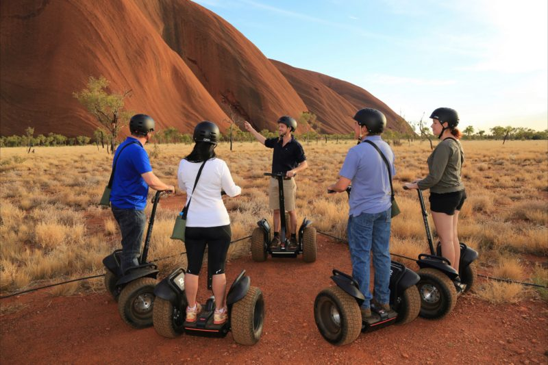 Guests learning about Uluru