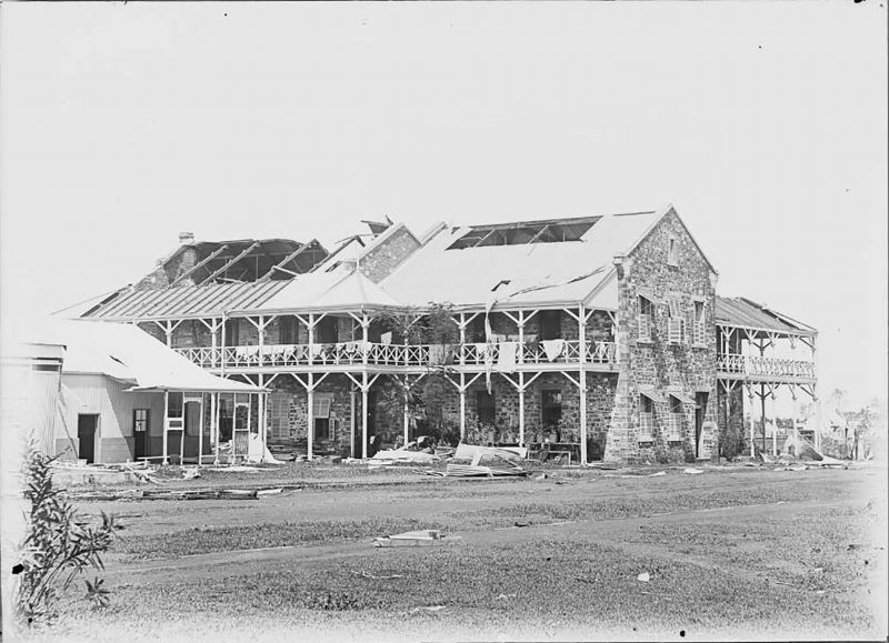 1897 - damage caused by a cyclone.