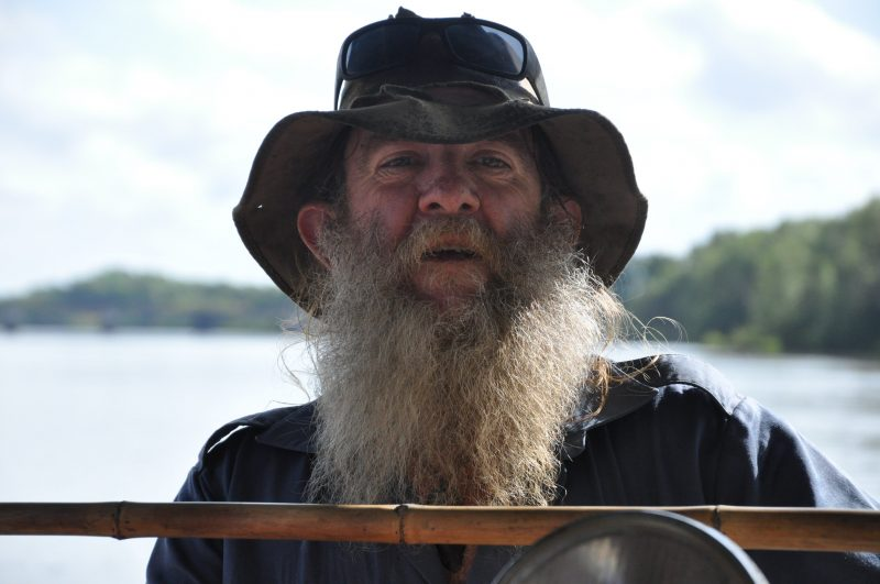 Adelaide River local legend Pat, your guide on the crocodile cruise