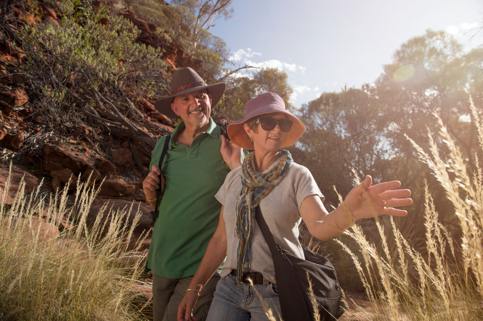 Visitors explore Kings Canyon on the Kings Creek walk.