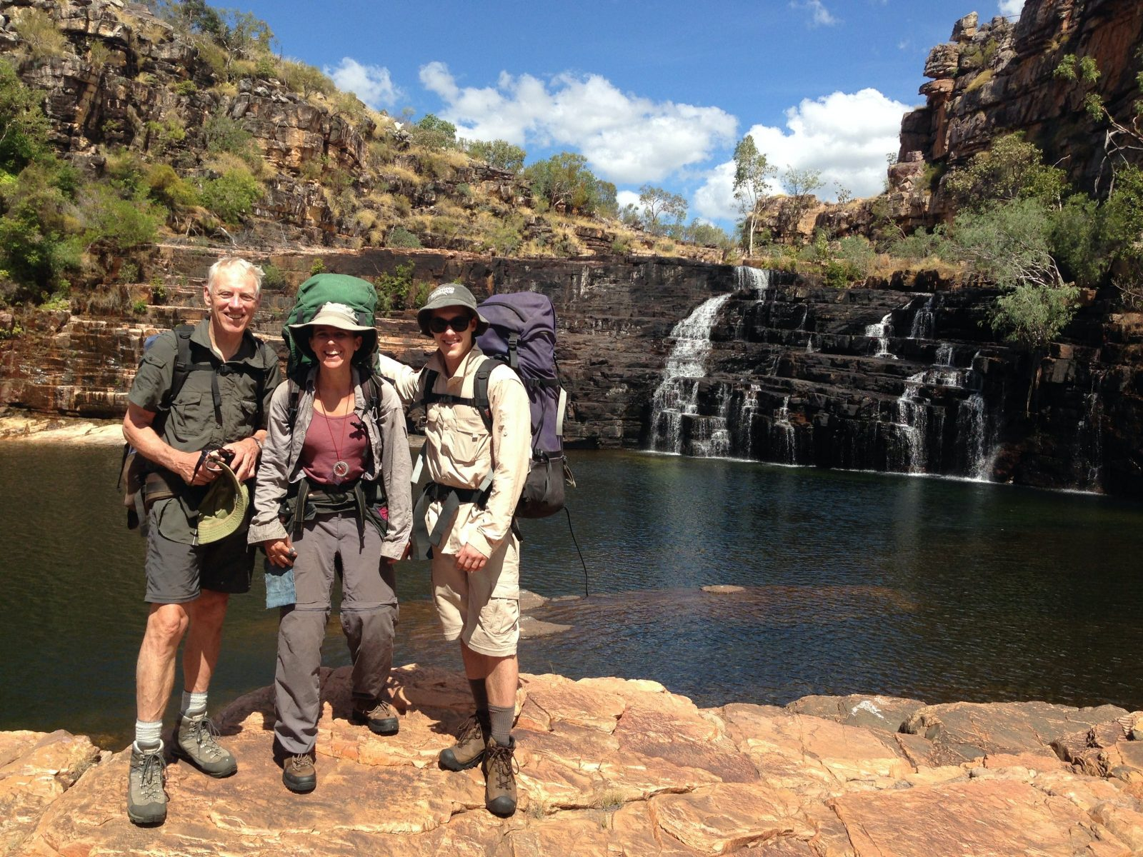 Amphitheatre Falls, Kakadu. Mid-Dry season. The only way to get here is on an overnight hike.