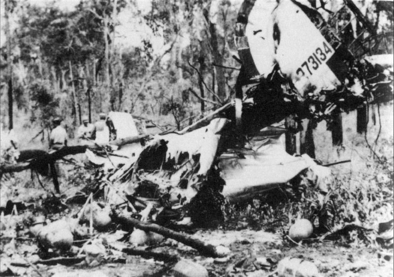 Wreckage of the B24J Milady