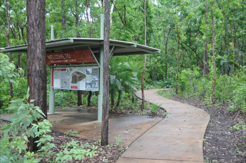 Interpretative shelter for the site at the southern entrance.