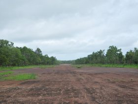Hughes Airstrip looking north.