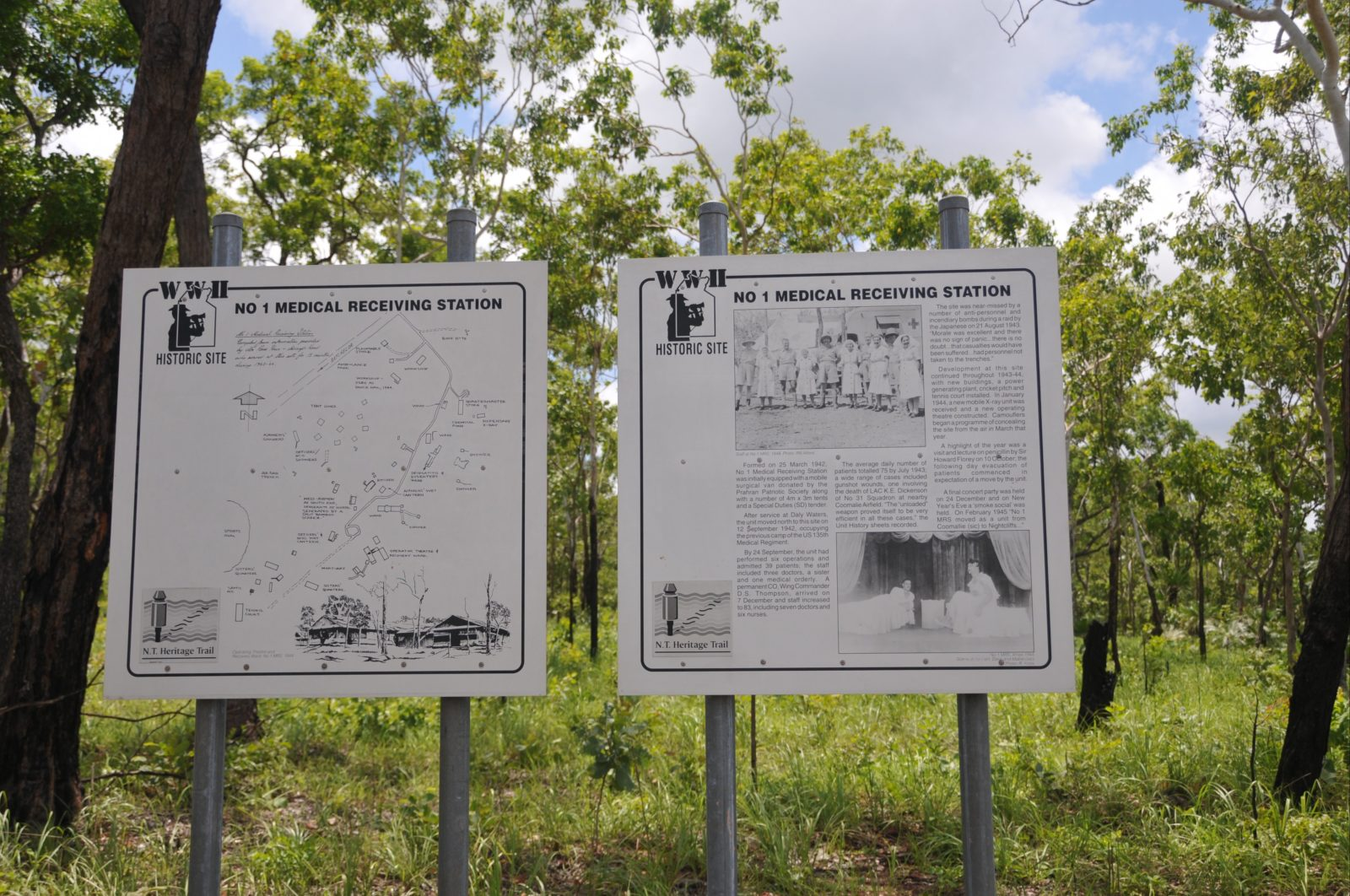 Interpretative panels at the Batchelor Road entrance.