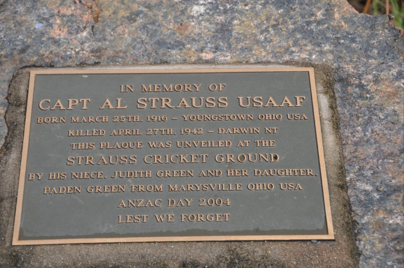 Memorial to Captain Al Strauss USAAF