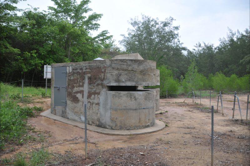 Observation posts with new steel door.