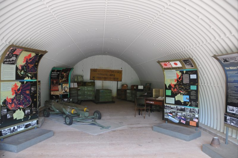Interior of Explosive Store with interpretive display.