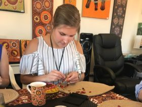 Aboriginal cultural experience Indigenous Art dot painting tour Alice Springs experience