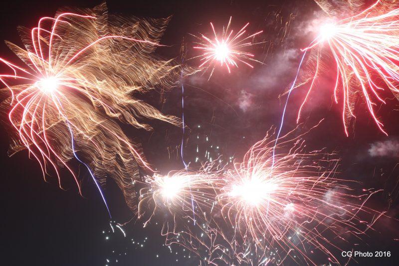 fireworks at 1770 Festival