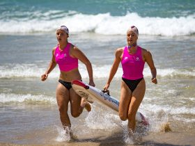 Athletes compete at the Queensland Surf Life Saving Championships