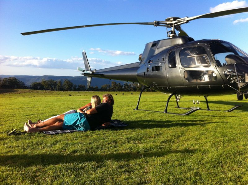Helicopter picnics in style