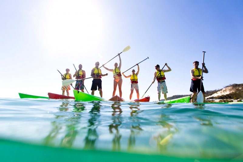 Stand-Up Paddle Boarding in Moreton Island
