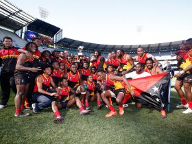 PNG - men's winners of the 2017 AFL International Cup