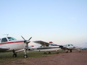 Air Central West's fleet comprise a number of high wing and low wing aircraft
