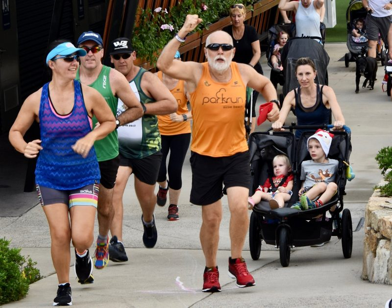 Bob started Airlie Beach Parkrun with Justin Knight-Gray.
