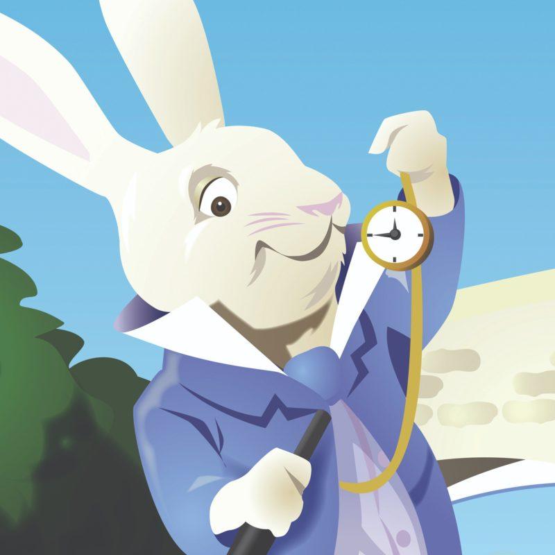 Alice's wonderland rabbit