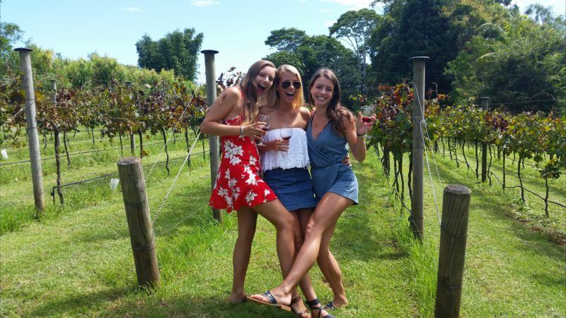 Wine tasting at Witches Falls Winery