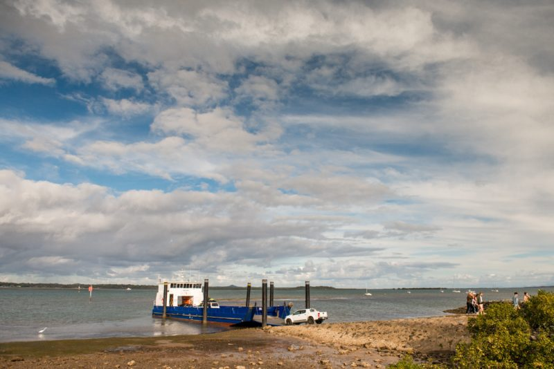 Vehicle ferry at Coochiemudlo Island