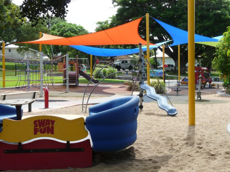 Ayr's Anzac Park has a variety of playground equipment, including a Sway Fun Swing, is fully fenced and is a fantastic place to take the family. The all abilities playground allows children in wheelchairs to be included in the fun.