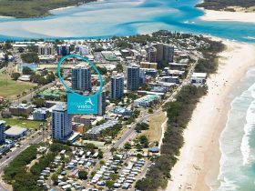 Aerial photo of Aqua Vista Luxury Resort, the premier property/holiday desitination in Cotton Tree