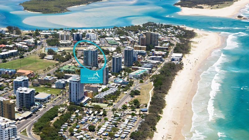 Aerial photo of Aqua Vista Luxury Resort, the premier property/holiday desitination in Cotton Tree