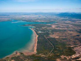 aerial beach sarina