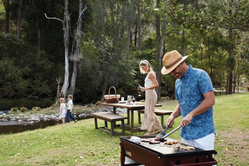 Cook your own BBQ beside the Canungra Creek this Australia Day