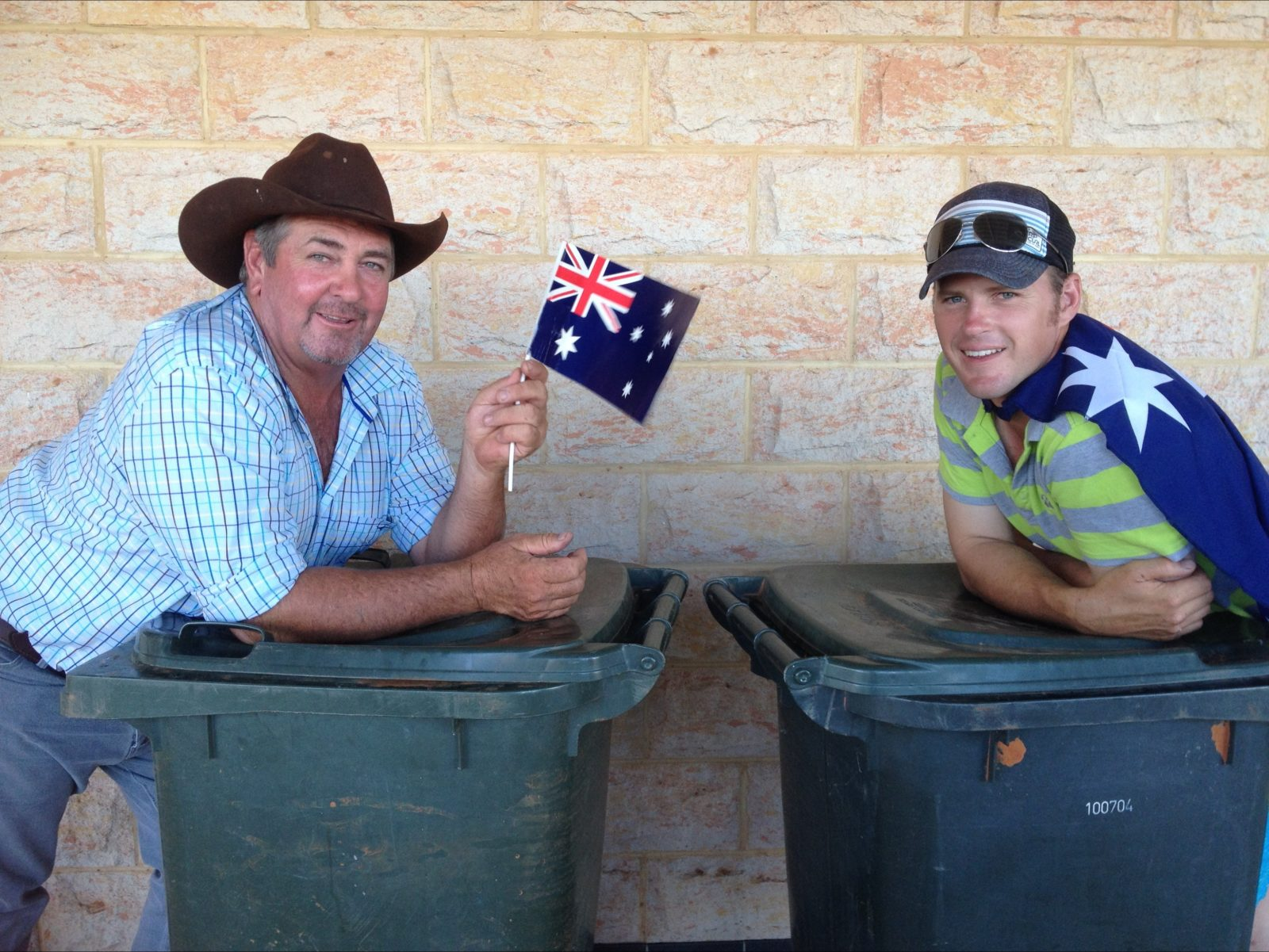 A couple of locals at the Australia Day celebrations.