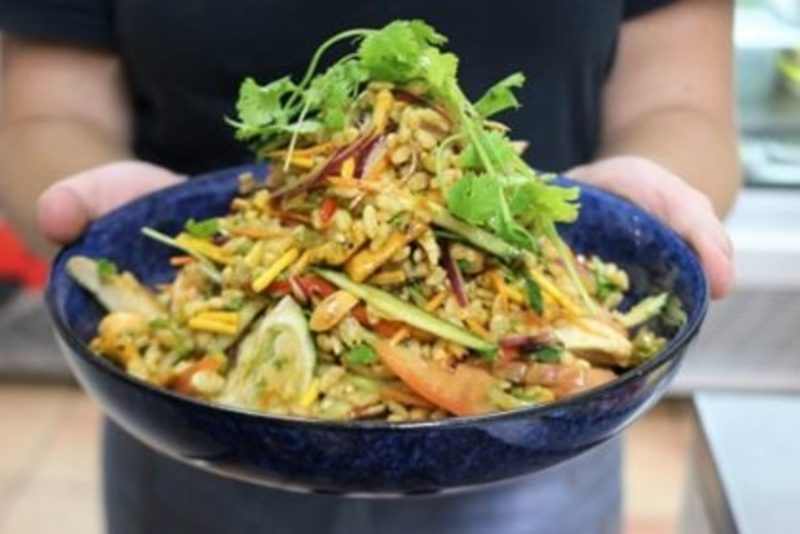 Delicious and exciting daily chef specials like this Chicken Bombay Salad