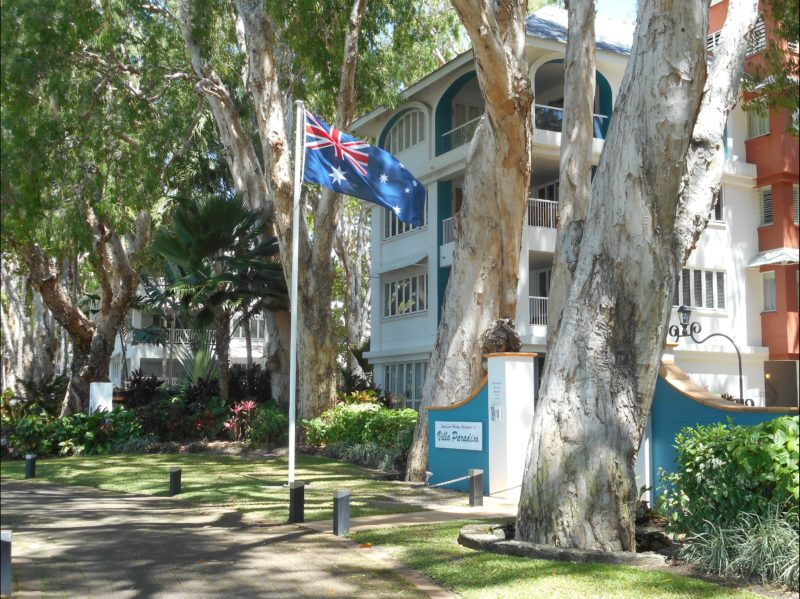 Australia Flag at Main Entrance