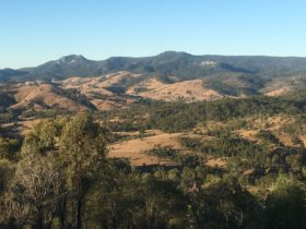 Landscape of the Great Dividing Range near Mt Perry