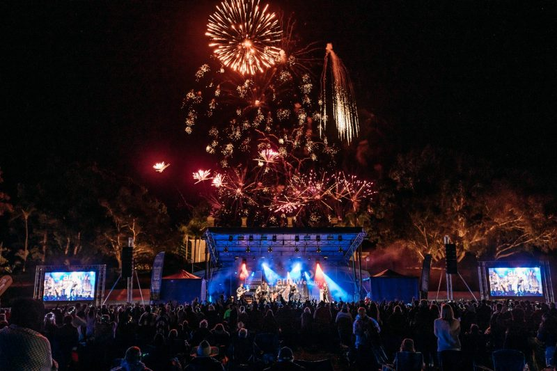 Image showcases the fireworks finale at the 2019 Big Skies Rock Concert