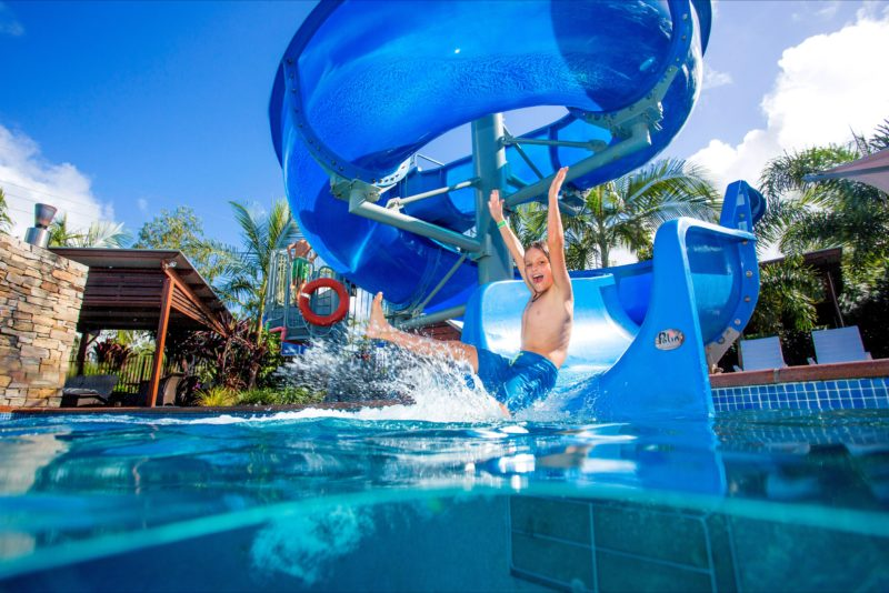 Gold Coast Holiday Park Splashing in the Pool