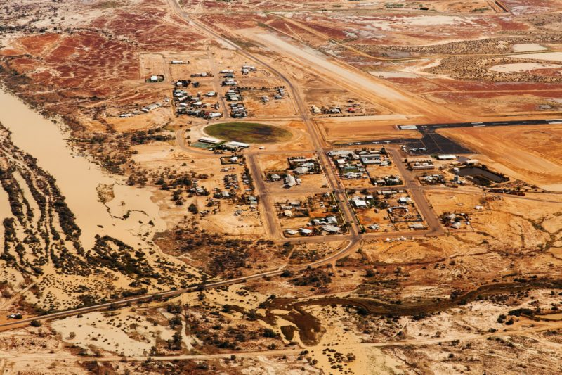 Aerial view of Birdsville township