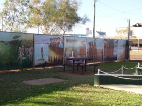 murals depicting various scences in honour of those who served