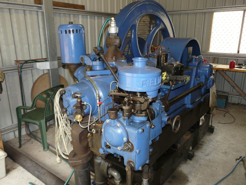 This Fielding engine from a Burdekin cane farm was restored by the Burdekin Machine Preservationists and is on display at the Brandon Heritage Precinct, North Queensland.