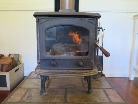 Wood fires in both cottages with wood provided.